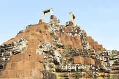 Angkor Thom. The top o Angkor Thom in Cambodia Stock Image