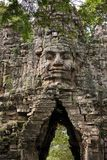 Angkor Thom west gate Stock Photography