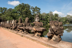 Angkor Thorm Sculptures Stock Images