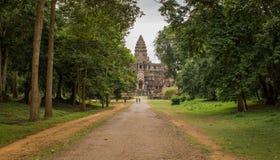 Angkor tylny wejście Wat, Obrazy Stock