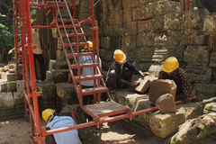 Angkor Under Repair Royalty Free Stock Photos