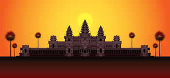 Angkor Vat dans le lever de soleil, Cambodge Illustration Stock