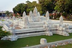 Angkor Vat en Mini Siam Park Image stock