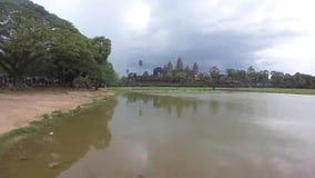 Angkor Vat ou Angkor Wat, Vidéo , Siem Reap Cambodia stock video footage