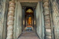 Angkor Vat - temple archéologique de parc Monument du Cambodge image stock