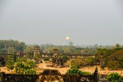 Angkor wah i Kambodja, tempelkomplex Royaltyfria Bilder