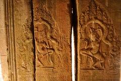 Angkor Wat—Apsaras Dancers in Cambodia Royalty Free Stock Photo