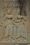 Angkor Watâ€' Apsaras tancerze w Kambodża zdjęcie stock