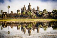 Angkor Wat寺庙, Siem Reap,柬埔寨 库存照片