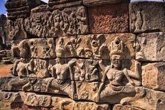 Angkor Wat的表面 免版税图库摄影