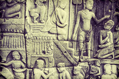 Angkor Wat的表面 库存照片