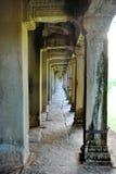 Angkor Wat走廊 免版税库存照片