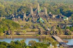 Angkor Wat鸟瞰图  免版税库存照片