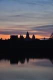 Angkor Wat,柬埔寨 日出 免版税库存图片
