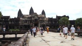 Angkor Wat är ett jätte- komplex för hinduisk tempel i Cambodja arkivfilmer