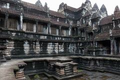 Angkor Wat świątyni jard Fotografia Royalty Free