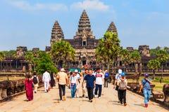 Angkor Wat świątynia, Siem Przeprowadza żniwa Zdjęcia Stock