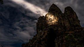 Angkor Wat świątynia Siem Przeprowadza żniwa uśmiech angkor zdjęcie royalty free