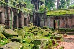 Angkor Wat - ένας γιγαντιαίος ινδός ναός σύνθετος στην Καμπότζη, που αφιερώνεται στο Λόρδο Vishnu Στοκ φωτογραφία με δικαίωμα ελεύθερης χρήσης