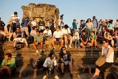 Angkor Wat από Phnom Bakheng στο ηλιοβασίλεμα, Καμπότζη Στοκ Εικόνα