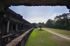 Angkor Wat Εσωτερικός κοιτάξτε Στοκ Εικόνες