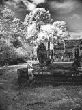 Angkor Wat - η ευδαιμονία της Khmer τέχνης NB 4 Στοκ Εικόνα