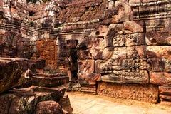 Angkor Wat - η περιοχή παγκόσμιων κληρονομιών της ΟΥΝΕΣΚΟ κοντά σε Siem συγκεντρώνει, Καμπότζη Στοκ φωτογραφία με δικαίωμα ελεύθερης χρήσης