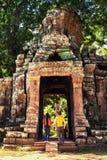 Angkor Wat - η περιοχή παγκόσμιων κληρονομιών της ΟΥΝΕΣΚΟ κοντά σε Siem συγκεντρώνει, Καμπότζη Στοκ Εικόνες