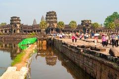Angkor Wat η τάφρος Στοκ Εικόνες
