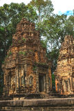 Angkor Wat, Καμπότζη - 6 Δεκεμβρίου 2016: Στοές και τουρίστες Στοκ φωτογραφίες με δικαίωμα ελεύθερης χρήσης