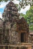 Angkor Wat, Καμπότζη - 6 Δεκεμβρίου 2016: Στοές και τουρίστες Στοκ Εικόνα