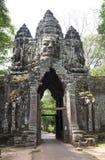 Angkor wat Καμπότζη εισόδων πυλών ελεφάντων Στοκ Φωτογραφίες