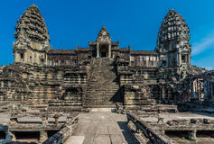 Angkor wat Καμπότζη προαυλίων Στοκ Εικόνες