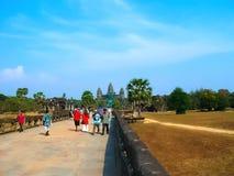 Angkor Wat, Καμπότζη - 17 Φεβρουαρίου 2011: Ο ναός Wat Angkor, Siem συγκεντρώνει, Καμπότζη Στοκ φωτογραφίες με δικαίωμα ελεύθερης χρήσης
