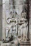 Angkor Wat, Καμπότζη χορός apsaras Στοκ εικόνες με δικαίωμα ελεύθερης χρήσης