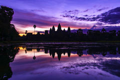 Angkor Wat κατά τη διάρκεια της ανατολής Στοκ εικόνα με δικαίωμα ελεύθερης χρήσης