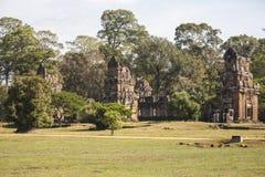 Angkor wat. Λεπτομέρεια τέχνης στην πέτρα Στοκ Φωτογραφίες