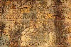 Angkor Wat, λεπτομέρεια τοίχων, Καμπότζη Στοκ Εικόνες