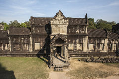 Angkor Wat μέσα στη λεπτομέρεια. Καμπότζη Στοκ Εικόνα