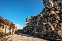 Angkor Wat μέσα Στοκ Φωτογραφίες