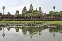 Angkor Wat μέχρι την ημέρα Στοκ Εικόνα