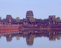 Angkor Wat με την αντανάκλαση, Καμπότζη Στοκ φωτογραφίες με δικαίωμα ελεύθερης χρήσης