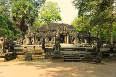 Angkor Wat Ναός Khmer πολιτισμός η banteay λίμνη της Καμπότζης angkor lotuses συγκεντρώνει siem το ναό srey Τουρισμός στην Καμπότ Στοκ φωτογραφία με δικαίωμα ελεύθερης χρήσης