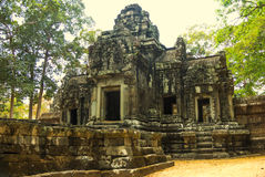 Angkor Wat Ναός Khmer πολιτισμός η banteay λίμνη της Καμπότζης angkor lotuses συγκεντρώνει siem το ναό srey Τουρισμός στην Καμπότ Στοκ εικόνα με δικαίωμα ελεύθερης χρήσης