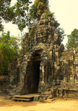Angkor Wat Ναός Khmer πολιτισμός η banteay λίμνη της Καμπότζης angkor lotuses συγκεντρώνει siem το ναό srey Τουρισμός στην Καμπότ Στοκ Φωτογραφία
