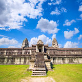 Angkor Wat ο αρχαίος βουδιστικός και ινδός ναός σύνθετος Στοκ Εικόνα