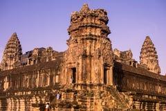 Angkor Wat στην άποψη δύο γωνιών ανατολής πλευρές Στοκ Εικόνα