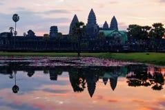 Angkor Wat στην ανατολή. Καμπότζη Στοκ φωτογραφία με δικαίωμα ελεύθερης χρήσης