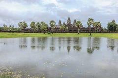 Angkor Wat στη βροχή Στοκ φωτογραφίες με δικαίωμα ελεύθερης χρήσης