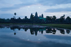 Angkor Wat στη Dawn. Καμπότζη Στοκ Εικόνες